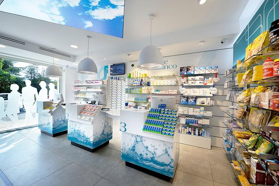 Bancone farmacia Sartoretto Verna