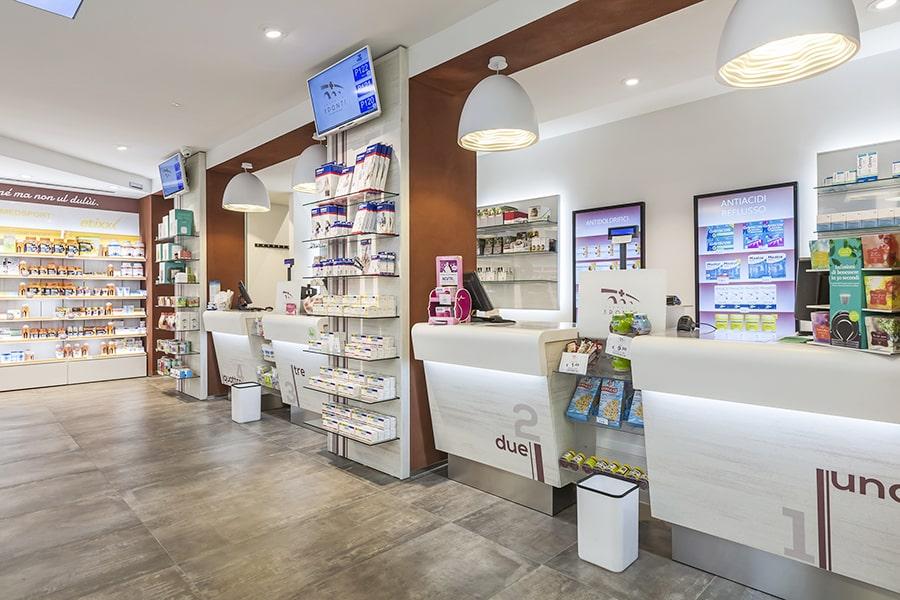 Banchi per farmacie Sartoretto Verna