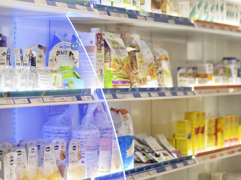 Vele in plexiglas divisori per farmacia