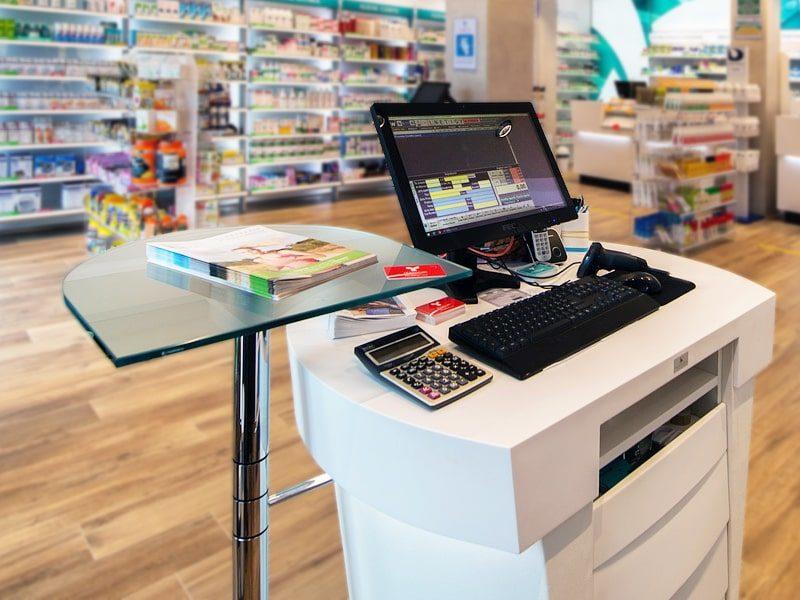banco per computer per farmacie