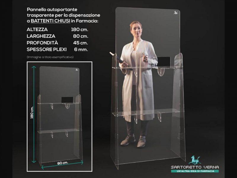 Pannello autoportante in plexiglass