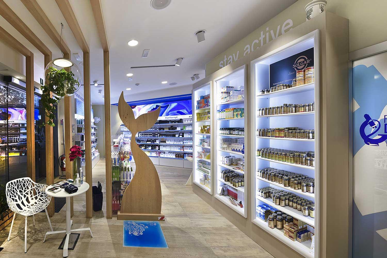 Arredi farmacia moderna Roma